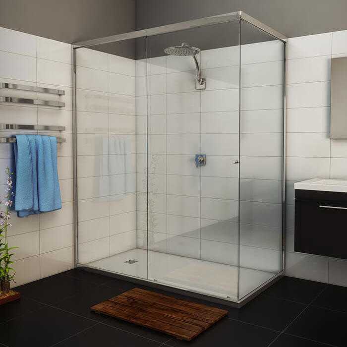 Momentum Semi-Frameless Shower Screen