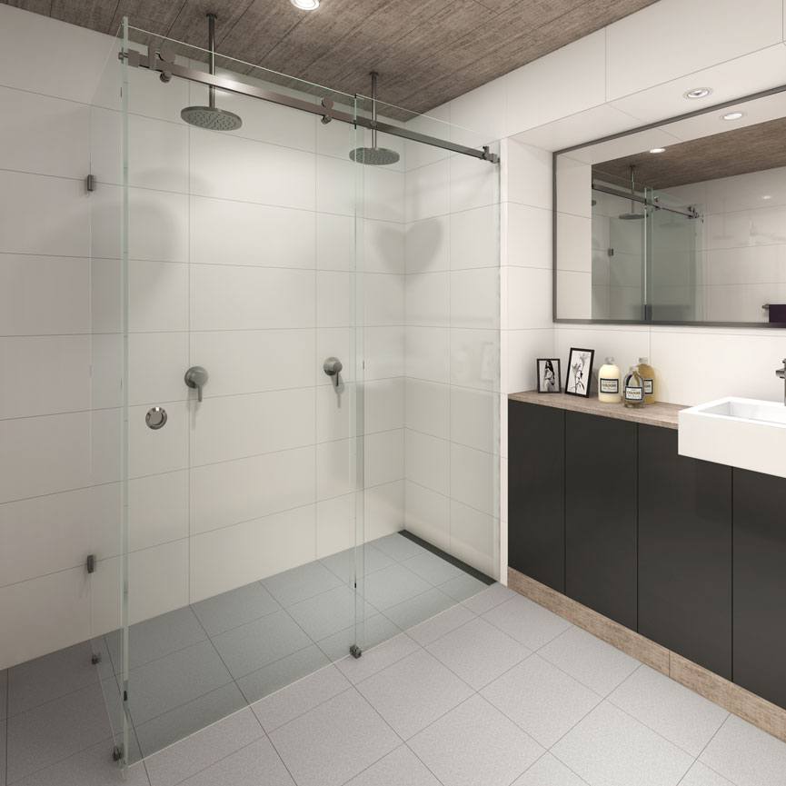 Manhattan Frameless Shower Screen