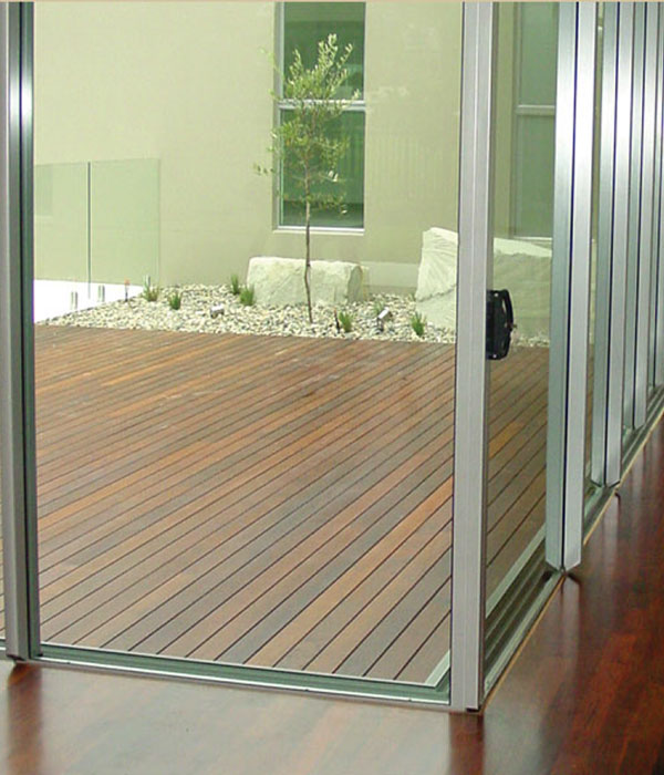 Windows glass doors westshore glass geraldton for Exterior multi track sliding doors